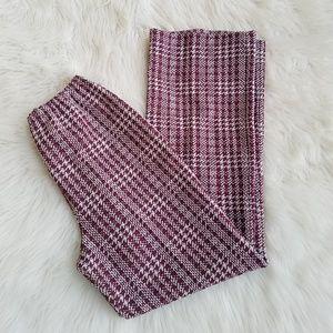 Vintage 60's Burgundy Houndstooth Polyester Pants